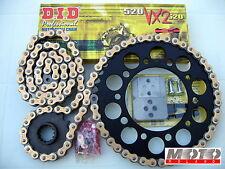 KIT TRASMISSIONE CATENA KAWASAKI 750 Z-S/R '03-'14 NERO DID 520 VX2 +Ribattitore