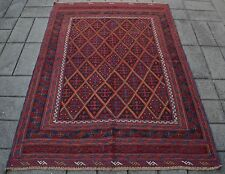 AFGHAN PERSIAN HANDMADE MUSHWANI TRIBAL RUG(180 x 145 CM) TURKISH MOROCCO CARPET