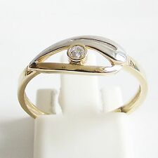 Ring Gold 375er 9ct. 0,045 ct Brillant Goldringe Brillantringe