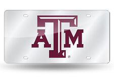 Texas A&M Aggies Mirrored Laser Cut License Plate Laser Tag