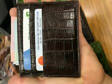 Brown  Crocodile skin credit card holder Card Case (Make your request)