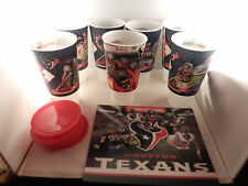 """HOUSTON TEXANS COLLECTORS CUP'S FULL SET OF 7 """"NEW"""" TIMEWISE - VERY HARD TO FIND"""