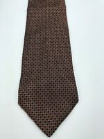 Brooks Brother Makers All Silk Necktie - Red Blue Geometric Pattern Tie