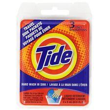 Tide Liquid Detergent Travel Sink Packets 3 ea (Pack of 6)
