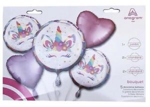 Unicorn Eyelashes Mylar Foil Balloon(5)  Bouquet Party Supply
