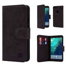 32nd Premium Leather Wallet Case for Google Pixel XL Cover Made From Genuine