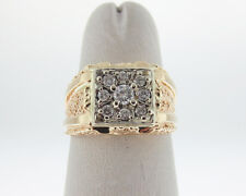 Genuine Diamonds Solid 14k Yellow Gold Men's Pinky Ring FREE Sizing