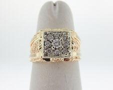 Genuine Diamonds Solid 14k Yellow Gold Men's Pinky Ring FREE Sizing