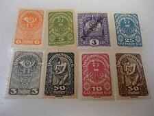 Vintage 1917-1919 Austria Stamps Unused Lot of 8