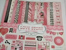 Echo Park Love Story 12x12 Collection Kit Papers and Element Stickers