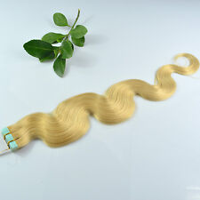 """20pcs 20"""" body wavy Tape In Skin Weft 100% Remy Human Hair Extensions USA SHIP"""