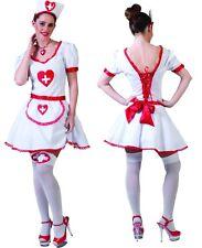 Kostüm Damen Krankenschwester Komplett Kostüm mit Haube Gr. 32/34 Polyester Neu