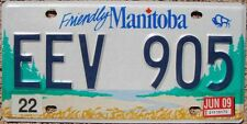 Friendly MANITOBA Canada License Plate - Random Letters - MB