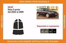 pellicola oscurante vetri SEAT ibiza 5 porte dal 2002 al 2009 kit posteriore