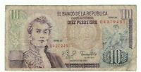Colombia 10 Pesos Oro 1980