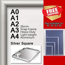 A0 A1 A2 A3 A4 PREMIUM Aluminum Snap poster frame Sign holder wall mount Silver