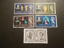 GB 1964 Commemorative Stamps~Shakespeare~Fine Used Set~UK Seller