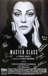 MASTER CLASS—2011 Broadway Theater Window Card Poster; Tyne Daly (signed)