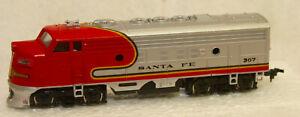 HO Scale Vintage Bachmann Sante Fe 307 Diesel Locomotive Train, Does Work