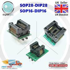 TSSOP28 SOP28 to DIP28 SOP16 to DIP16 Socket Adapter Converter 0.65 1.27 Pitch