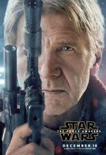 Star Wars The Force Awakens Original Vinyl Cinema Banner 8ft x 5ft, Han Solo