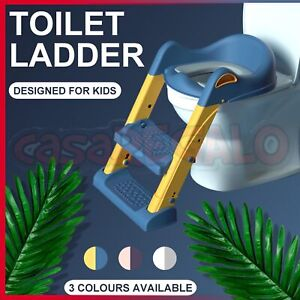 NEW Potty Training Toilet With Step Stool Ladder & Soft Seat For Toddlers & Kids