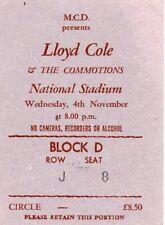 Lloyd Cole - ORIGINAL Concert Ticket - National Stadium, Dublin - 4th Nov 1987