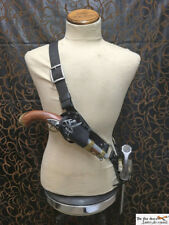 Pirate leather baldric for latex or metal sword and optional holster! LARP