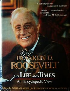 Franklin D. Roosevelt, His Life and Times: An Encyclopedia View (1985, HC) -NEW!