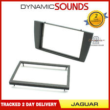 CT24JG05 Car Stereo Double Din Fascia Panel Dark Grey For Jaguar S Type / X Type