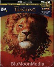 The Lion King 2019 BLU-RAY 4K Ultra HD Steelbook + Digital  Limited Edition NEW
