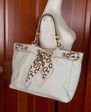 Gucci Large Leather Positano Scarf Handbag Ivory Shoulder Hobo Tote Bag