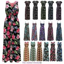 Full-Length Casual Floral Maxi Dresses for Women