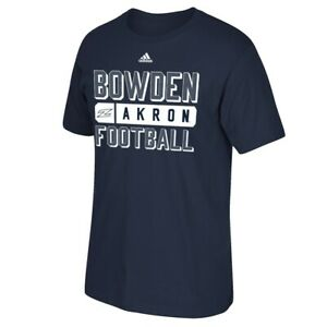 "Akron Zips NCAA Adidas Coach Property ""Football"" Men's Navy Blue T-Shirt"