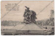 GENOVA CITTÀ 701 QUARTO - MONUMENTO DEI MILLE GARIBALDI Cartolina VIAGGIATA 1915