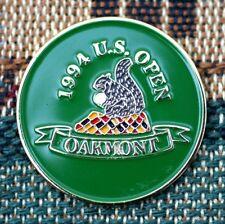 "1994 US OPEN Oakmont CC 1""  2-Sided Gold Plated Golf Ball Marker_Ernie Els Won"