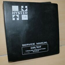 HYSTER ELECTRIC System Forklift TROUBLESHOOTING SERVICE Guide Manual book shop