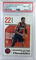 2018-19 Panini Chronicles Purple Deandre Ayton RC #21, #'d/49, PSA 8.5, Pop 1 !