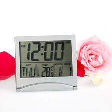 Digital LCD Weather Station Folding Desk Temperature Travel Alarm Clock Date New
