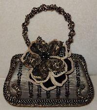 Mary Frances Beaded Handbag Purse Floral Flower