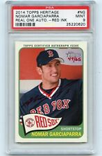 2014 TOPPS HERITAGE #ROA-NG NOMAR GARCIAPARRA AUTOGRAPH RED INK #47/65, PSA 9