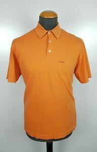 Burberry London Men's Polo Shirt Orange Collard Short Sleeve Size XL