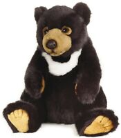 NATIONAL GEOGRAPHIC BLACK BEAR PLUSH SOFT TOY 24CM STUFFED ANIMAL - BNWT