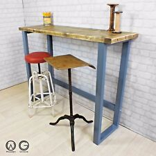 CONSOLE BREAKFAST BAR TABLE RECLAIMED TIMBER VINTAGE INDUSTRIAL RETRO DESIGN