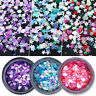 Nail Art Sequins Sparkling Flakes Colorful Round Star Nail Glitter Tips 3D Decor