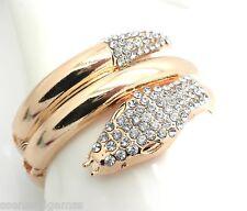 New Snake Bracelet Women Cuff Gold Plated Crystal Hinge