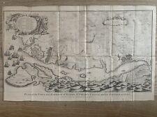 More details for 1744 mahón, menorca city plan spain original antique map by isaac basire