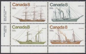 Canada - #673a Coastal Vessels Plate Block - MNH