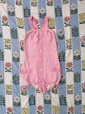 Vintage 1940s 1930s Bathing Suit Cotton Knit Swimwear Pockets