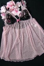 Victoria's Secret Slip M sexy little things pink babydoll VS black label Sale